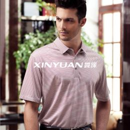 GT3973 男亚博体育app手机版针织短袖衬衫