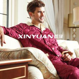 XYS7477 男亚博体育app手机版提花棉睡衣套