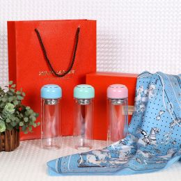 GS0001精品丝巾女玻璃杯组合