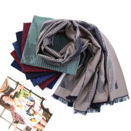 HB4687 丝羊毛莫代尔围巾