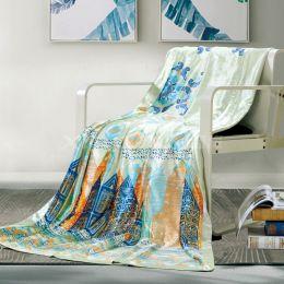 BTD1820 蚕丝薄荷纤维凉绒毯